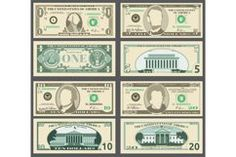 Eps Vector, Vector File, Play Money Template, Money Bill, Dollar, Illustrations, Design Bundles, Adobe Illustrator, Templates