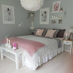 An improved, feminine bedroom that provides an area to remainder, research study. An improved, feminine bedroom that provides an area to remainder, research study or captivate pals in vogue. Pops of pin. Teenage Girl Bedroom Designs, Cool Teen Bedrooms, Bedroom Girls, Bedrooms Ideas For Teen Girls, Bedroom Decor For Teen Girls Diy, Beautiful Bedrooms, Trendy Bedroom, Pink Bedrooms, Bedroom Ideas For Women On A Budget