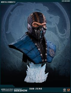 The Sub-Zero Life Size Bust by Pop Culture Shock is available at Sideshow.com for fans of Mortal Kombat X and video games.