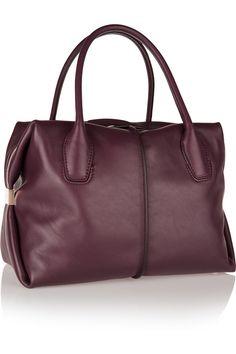 Tod's|D-Cube Bauletto medium leather tote|NET-A-PORTER.COM