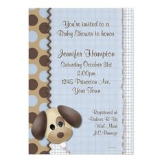 puppy themed baby shower    Puppy Dog Baby Shower Invitation from Zazzle.com