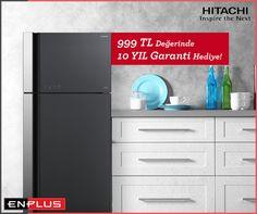 Şimdi en küçük mutfaklarda dahi az yer kaplayan, geniş iç hacimli Hitachi buzdolapları ile sağlığın ve lezzetin ömrü uzuyor. :)