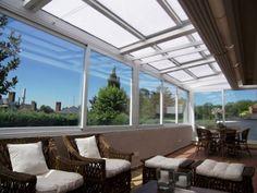 techos_corredizos_terrazas Ideas Para, My House, Sweet Home, Exterior, Outdoor Decor, Decks, Unicorn, Outdoors, Home Decor