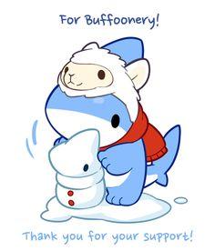 Draw Sharks Reward Art for Buffoonery! by Vress-shark - Cute Animal Drawings, Kawaii Drawings, Cute Drawings, Pet Shark, Baby Shark, Cute Comics, Cute Chibi, Cute Creatures, Cute Characters