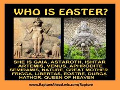 This is the reason for your easter Sunday season. Sun Worship, Queen Of Heaven, Bible Truth, Statements, Gods And Goddesses, Artemis, Aphrodite, Gaia, Magick