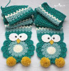 Crochet owl scarf free pattern
