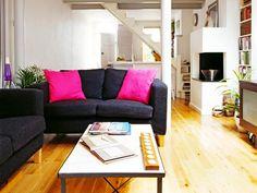 Home: Decorating Ideas, Home Improvement, Cleaning U0026 Organization Tips.  Black CouchesBlack SofaBlack Living RoomsBlack Living Room ... Part 59