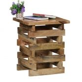 Onlineshoppee Wooden Living Room Cum End Table Size(lxbxh-12x12x18) Inch     Afr1474