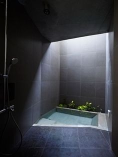 modern spa bathroom | sunken bathtub
