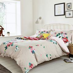 Grey Floral Bedding by Joules