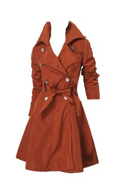 Karen Millen Cm017 Red Tallored Cotton Shift Coat Salmon [KMC5427] - £76.80 :