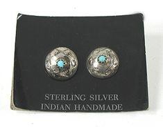 NOS Turquoise Concho Post earrings E543 Vintage Earrings, Vintage Jewelry, Matrix Color, Native American Earrings, American Indian Jewelry, Native American Indians, Shades Of Blue, Vintage Shops, Turquoise