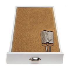 "Cork Drawer Liner--Williams-Sonoma 12-ft. roll; 17 1/2"" wide; 1/8"" thick. Made in Portugal."