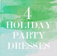 4 holiday dresses holiday dresses inspo 2014 Which one would you pick?