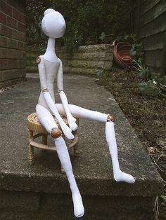 Susannah Dashwood jointed cloth doll