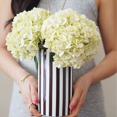 <p>The Henri Bendel Vase is perfect for a fabulous spray of spring flowers. Crafted with fine porcelain and featuring our signature brown and white stripes, this designer vase will remind you to bring the spring inside.</p>