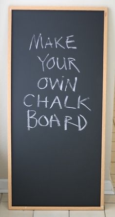 Making a chalk board with chalk board paint