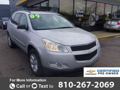 2009 *Chevrolet* *Chevy*  *Traverse* *FWD* *4dr* *LS*  113k miles Call for Price 113984 miles 810-267-2069 Transmission: Automatic  #Chevrolet #Traverse #used #cars #CARiteofFlint #Flint #MI #tapcars
