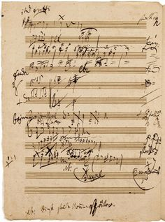 I love Beethoven's handwriting.