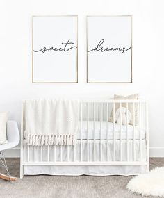 Above crib art/ set of 2 prints/ minimalist poster/ Above bed art/ above crib decor/ nursery print/ bedroom wall art/ Sweet Dreams print – Baby Room 2020 Baby Bedroom, Baby Room Decor, Nursery Room, Girl Nursery, Kids Bedroom, Nursery Decor, Nursery Prints, Kids Rooms, Baby Rooms