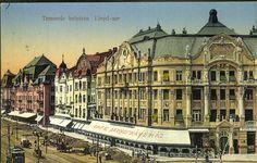 Temesvár, 1916. Belváros; Lloyd-sor | Képcsarnok | Hungaricana Budapest, Bucharest Romania, Postcards, Louvre, Europe, Colorful, Landscape, City, Building