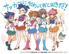 Wow!! XD Sailor Raimon Version! Adè is absolutely the best! XD