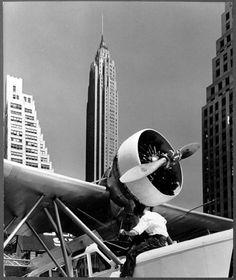 New-York 1940 - Downtown skyport, Lower Manhattan