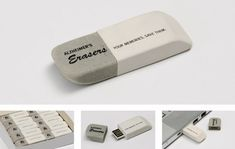 A brilliant leave-behind for a New Zealand campaign about Alzheimer's: an eraser with a USB key inside
