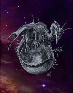 Moon dragon - Artist Rob Carlos on Fine art america