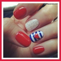 fourth of july nails designs | nail art for the fourth of july