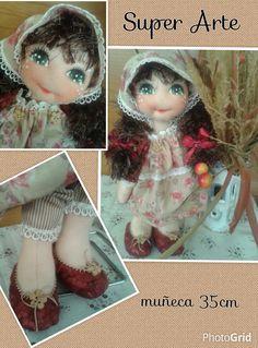 Muñeca romantica  hecha a mano por Super Arte.