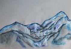 """Le Alpi #Apuane innevate. Schizzi dal cosiddetto """"taccuino giapponese""""."""