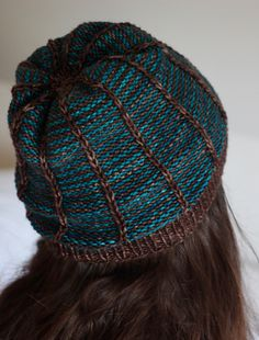 This hat is perfect for those half balls you have left over, when a colour is just so scrumptious you need to find another project for it. Any worsted weight yarn that knits to a gauge of 20 stitches over 4 inches will work beautifully.