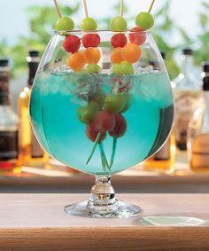 Frozen Fruit Skewers for Drinks