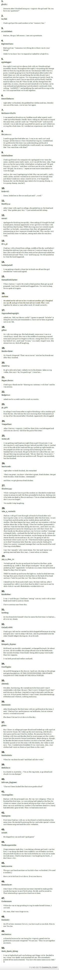 50 Awkward Sexual Experiences...number 18 is probably my favorite omg lol