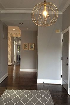 Benjamin Moore Smoke Embers Chevy Chase Residence Contemporary Entry Dc Metro Heather Odonovan Interior Design And Wallpaper