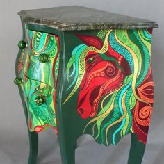 Emerald Chest of drawers by ArtPoPo on Etsy
