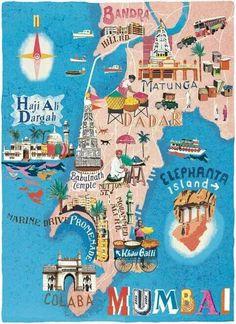 Travel and Trip infographic Mumbai map illustration by Cartographic – Anna Simmons Infographic Description Mumbai map illustration by Cartographic – Anna Simmons – Infographic Source – Travel Maps, New Travel, India Travel, Restaurants In Paris, Mumbai Map, Mumbai City, Poster Design, Map Design, London Travel Guide