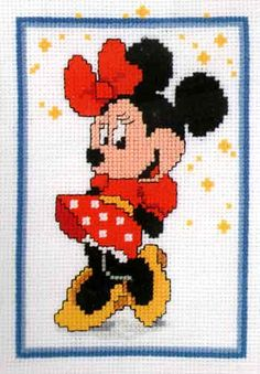 Minnie Mouse Cross Stitch Kit By Vervaco
