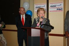 Phyllis Schlafly with Rep. Louie Gohmert.