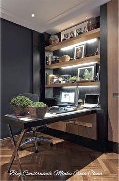 Home Office e Escritórios Masculinos Decorados!