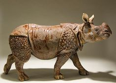 Safarious - More Clay Animal Sculptures by Nick Mackman / Clay Knight / Gallery Pottery Animals, Ceramic Animals, Clay Animals, Ceramic Art, Rhino Art, Cemetery Art, Rhinoceros, African Animals, Sculpture Clay
