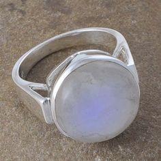 925 STERLING SILVER RAINBOW MOONSTONE 8.17gSTONE FANCY RING JEWELLERY R01128 #Handmade #GEMSTONERING