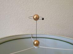 Atomic ORBIT Saturn ATOM Lamp Topper MOLECULE FINIAL Space ART SCULPTURE *Gold*