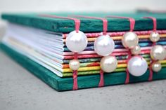 Pearls included in binding