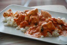 #LCHF LCHF-hverdag: LCHF: Kylling i tomatsauce med mascarpone