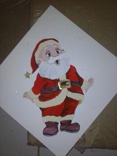 QUADRO DE EVA E MDF Elf On The Shelf, Holiday Decor, Painting, Home Decor, Dish Towels, Diapers, Painting On Fabric, Paintings, Xmas