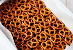 carmel, pretzel brownies. yum to the tum.