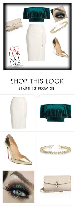 """""""Night out 👠👌"""" by elma1231999 ❤ liked on Polyvore featuring MaxMara, River Island, Christian Louboutin, Allurez and Dolce&Gabbana"""