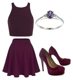 """""""Plum"""" by livadams206 on Polyvore featuring Elizabeth and James, Pour La Victoire and Sterling Essentials"""